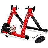Unisky Rullo Bicicletta per Allenamento Rullo Bici con Resistenza Magnetica Regolabile velocità per ruota 26'-28' o 700C, Riduzione del Rumore per Esercizio Ciclismo In Casa