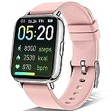 Sudugo Smartwatch Donna Orologio Fitness, 1.69'' Touch Orologio Donna Activity Tracker, Smart Watch con Cardiofrequenzimetro/Contapassi, Orologio Intelligente 24 Modalità Sportive per Android iOS Rosa