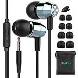 Blukar Auricolari, Cuffie in-Ear Stereo con Microfono ad Alta Sensibilità - Alta Definizione, Bassi Potenti, Isolamento del Rumore, Suono Puro per iPhone, iPad, Samsung, Huawei etc