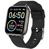Smartwatch, Orologio Fitness Uomo Donna 1,69'' Touch Schermo Smart Watch con Contapassi/Cardiofrequenzimetro/Cronometro, Sportivo Fitness Tracker Impermeabil IP68, 24 Sportive, Notifiche Messaggi