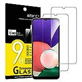 NEW'C 2 Pezzi, Vetro Temperato per Samsung Galaxy A22 4G (Non per Samsung Galaxy A22 5G), Pellicola Prottetiva Anti Graffio, Anti-Impronte, Durezza 9H, 0,33mm Ultra Trasparente, Ultra Resistente