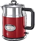 Russell Hobbs Retro 21670-70 Bollitore Elettrico, 2400 Watt, 1.7 Litri, Acciaio Inossidabile, Rosso