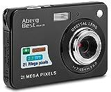 AbergBest Fotocamera digitale 2,7' schermo LCD Videocamera digitale in HD per studenti, per ambienti interni o esterni, per adulti, anziani, bambini (Nero)