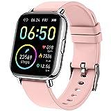 Smartwatch, Orologio Fitness Donna 1,69'' Touch Schermo Smart Watch con Saturimetro/Contapassi/Cardiofrequenzimetro/Cronometro, 24 Sportivo, Activity Tracker Impermeabil IP68, Notifiche Messaggi-Rosa