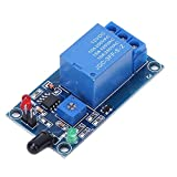 Modulo sensore di rilevamento incendio a infrarossi 12VDC 760~1100nm Sensibilità PVC Modulo relè di rilevamento fiamma con interruttore a doppio comando regolabile per sistema di allarme antincendio