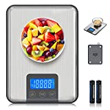 Adoric Bilancia digitale professionale elettronica da 15 kg, con grande superficie di pesatura, precisione fino a 1 g (peso massimo 15 kg)