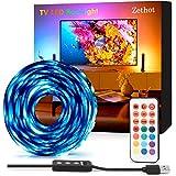USB Striscia LED, Retroilluminazione led TV, illuminazione di polarizzazione zethot per TV da 50-65 pollici 3.5M rgb, kit con telecomando, illuminazione di polarizzazione 5050 led.