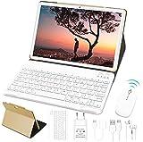Tablet 10 Pollici 4GB RAM 64GB ROM WiFi + Doppia SIM Lte Android 10 Pro GOODTEL Tablets Doppia Fotocamera | WiFi | IPS | Bluetooth | MicroSD 4-128 GB | con Tastiera Bluetooth e Mouse - Oro Rosa