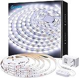 Govee Striscia LED 5m Dimmerabile Bianco Freddo, Illuminazione Interna per Soggiorno Cucina Camera da Letto Albero di Natale