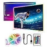 SHENXI Striscia LED 3M,USB Retroilluminazione TV Telecomando e 16 Colori e 21 Modalità,Striscia Luminosa a LED RGB 5050 per HDTV da 40-60 Pollici,Adatto a TV,PC Monitore e Camera da Letto