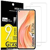 NEW'C 2 Pezzi, Vetro Temperato per Xiaomi Mi 11 Lite/Mi 11 Lite 5G, Pellicola Prottetiva Anti Graffio, Anti-Impronte, Senza Bolle, Durezza 9H, 0,33mm Ultra Trasparente, Ultra Resistente