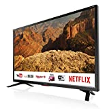 Sharp Aquos LC-32BC5E - 32' Smart TV HD Ready LED TV, Wi-Fi, DVB-T2/S2, 1366 x 768 Pixels, Nero, suono Harman Kardon, 3xHDMI 2xUSB, 2019