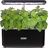 iDOO Giardino Intelligente con Lampada LED per Piante, Serra Idroponica con Timer Automatico, Fioriera da Giardino per Germinazione, Altezza Regolabile, 7 baccelli