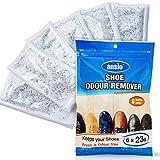 ANSIO Deumidificatore per scarpe, Deumidificatore per scarpe ed eliminatore di deodorante per scarpe, elimina scarpe e piedi puzzolenti - (23g * confezione da 6)