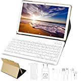 Tablet 10 Pollici 4GB RAM 64GB ROM WiFi + Doppia SIM Lte Android 10 Pro GOODTEL Tablets Doppia Fotocamera | WiFi | IPS | Bluetooth | MicroSD 4-128 GB | con Tastiera Bluetooth - Oro Rosa