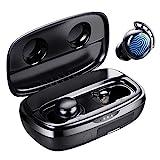 Cuffie Bluetooth, Tribit 100 Ore Utilizzo IPX8 Impermeabile per Sport e Bassi Auricolari Bluetooth con Custodia di Ricarica Rapida Microfoni Cuffiette Wireless Senza Fili in Ear per Correre Musica ps5
