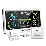 ThermoProTP68 Stazione Meteo Ricaricabile Termometro Igrometro Wireless da Interno Esterno Misuratore di Temperatura e umidità Digitale con Sensore Resistente al Freddo e Impermeabile per Casa