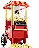 Gadgy Popcorn Machine - Retro Macchina Pop Corn Compatta, Aria Calda Senza Olio Grasso