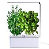 amzWOW Clizia Smart Garden - Serra idroponica per Piante, Vaso Intelligente, Grow Box - Orto da Interno 100% Bio - Coltiva Le Erbe aromatiche- Timer Automatico, Luce LED Inclusa (Bianco)