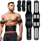 EGEYI Elettrostimolatore per Addominali, Elettrostimolatore Muscolare, Addominale Tonificante Cintura ABS, EMS Stimolatore Muscolare Addome/Braccio/Gambe/Waist/Glutei